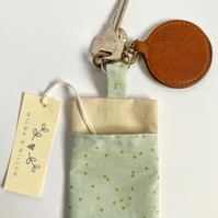 Washable face mask bag keyring- pouch- storage