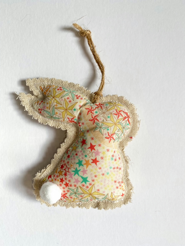 Easter bunny fabric hanging decoration