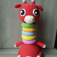 Amigurumi Giraffe, Stacking toy, Educational toy