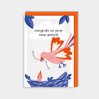 New baby card - baby girl - baby boy