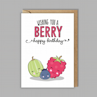 Funny birthday card - pun birthday card - happy birthday - for her - for him