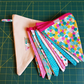 Bright pink and turquoise summertime bunting