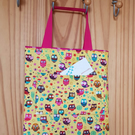 Funky owls small tote bag