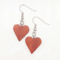 Heart wood earrings - Padauk