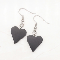 Heart wood earrings - Ebony