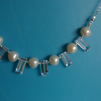 Freshwater Pearl with Quartz crystal