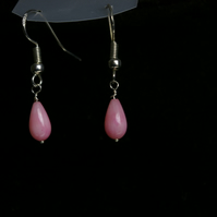 Pink Coral  Drop Earrings