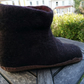 Men's felted bootee style slippers
