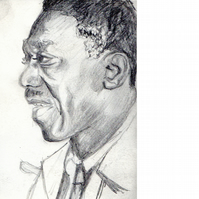 Art Blakey. Original pencil drawing.