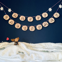 Happy Christmas - Wooden Bunting