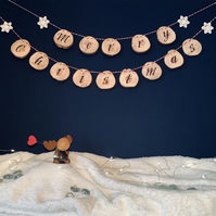 Merry Christmas - Wooden Bunting