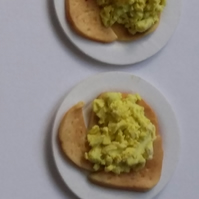 1.12th plates of Scrambled Eggs on Toast