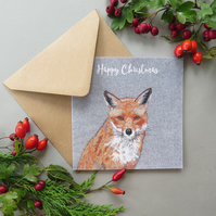 Fox Christmas card