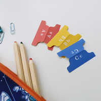 Primary Colour Alphabet index tab stickers