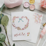 Beloved - Offhand Flourished Floral Heart Card