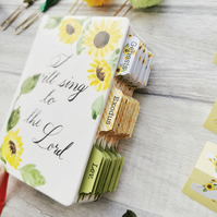 Sunflowers Watercolour Bible Tabs