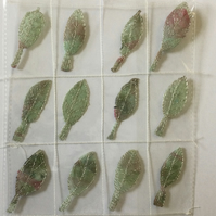 12 Free Motion Embroidery Leaf Embellishments Card Making