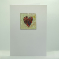 Personalised Mixed Media Heart Valentines Card