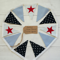 Red White and Blue Star Mini Bunting
