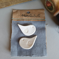 Handmade Bird Ceramic Buttons