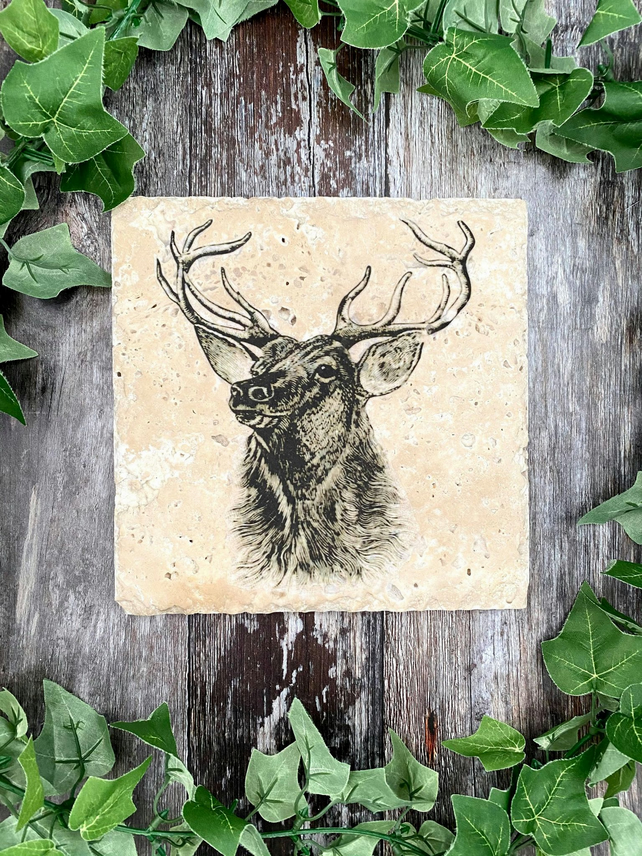Majestic Stag Stone Worktop Saver