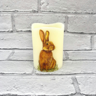 Rabbit Wax Flameless Candle