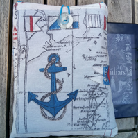 Kindle cover nautical anchors