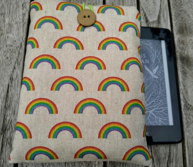 kindle cover rainbows