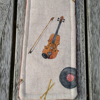 Bookmark with violin