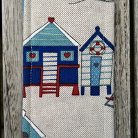 Bookmark with beach huts
