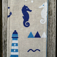 Bookmark with seahorses