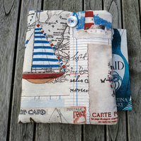 Book sleeve with yachts, anchors