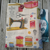 Book sleeve with sewing machine