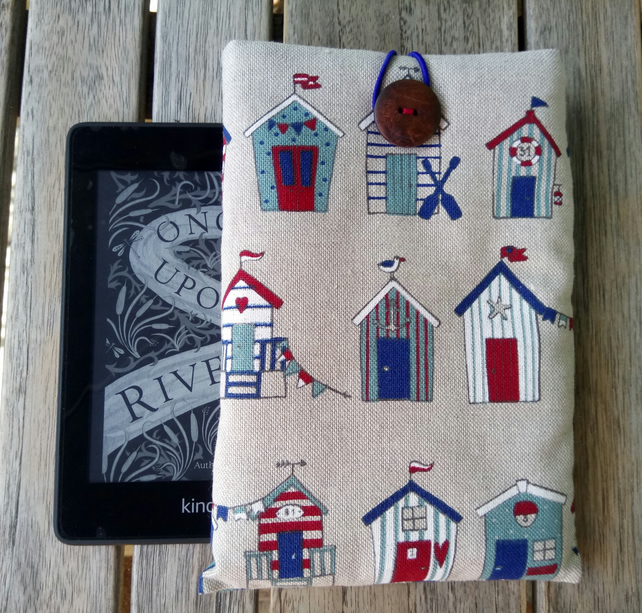 kindle cover with beach huts