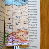 Bookmark with world map