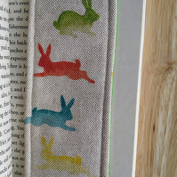 Bookmark with rabbits