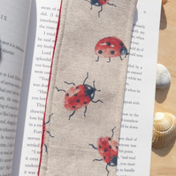Bookmark with ladybirds