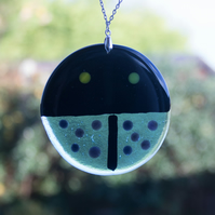 Blue Fused Glass Ladybird
