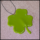 'Lucky' 4-Leafed Clover in Fused Glass
