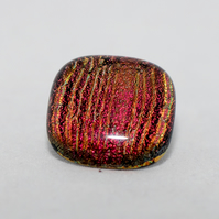 Red & Gold Dichroic Glass Tie Pin