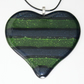 Striped Heart in Green & Blue
