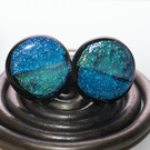 Turquoise & Blue Glass Cufflinks