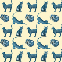 "Gift wrap - unique, recyclable wrapping paper - ""Lunar Cats"""