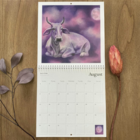 2021 Wall Calendar - Wildlife Art - Beautiful 'Spirit Animals'