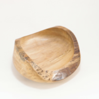 Rustic, chunky bowl with live edge. Spalted Beech
