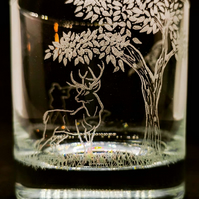 Deer Whisky Glass