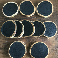 Rustic Natural Birch Wood Chalkboard Slices, Rounds, Craft, Pre-School Learning