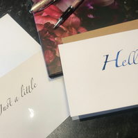 Simple General Message Card, Hello,  Note, Unisex Card, Foil finished