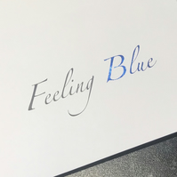 Feeling Blue Card, Hello, Keep in Touch, Card, Unisex, Friend, Foil Finished