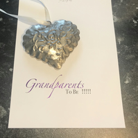 Grandparents to Be Card, Simple Everyday Card, Celebration Card, Elegant